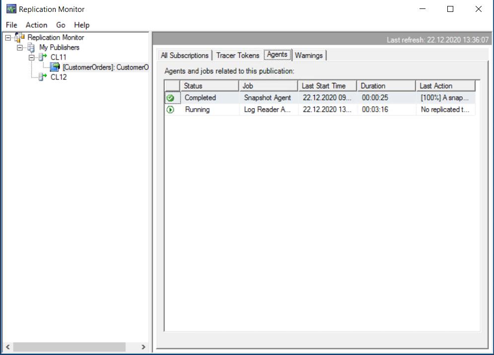 Transaktionale Replikation - Replication Monitor